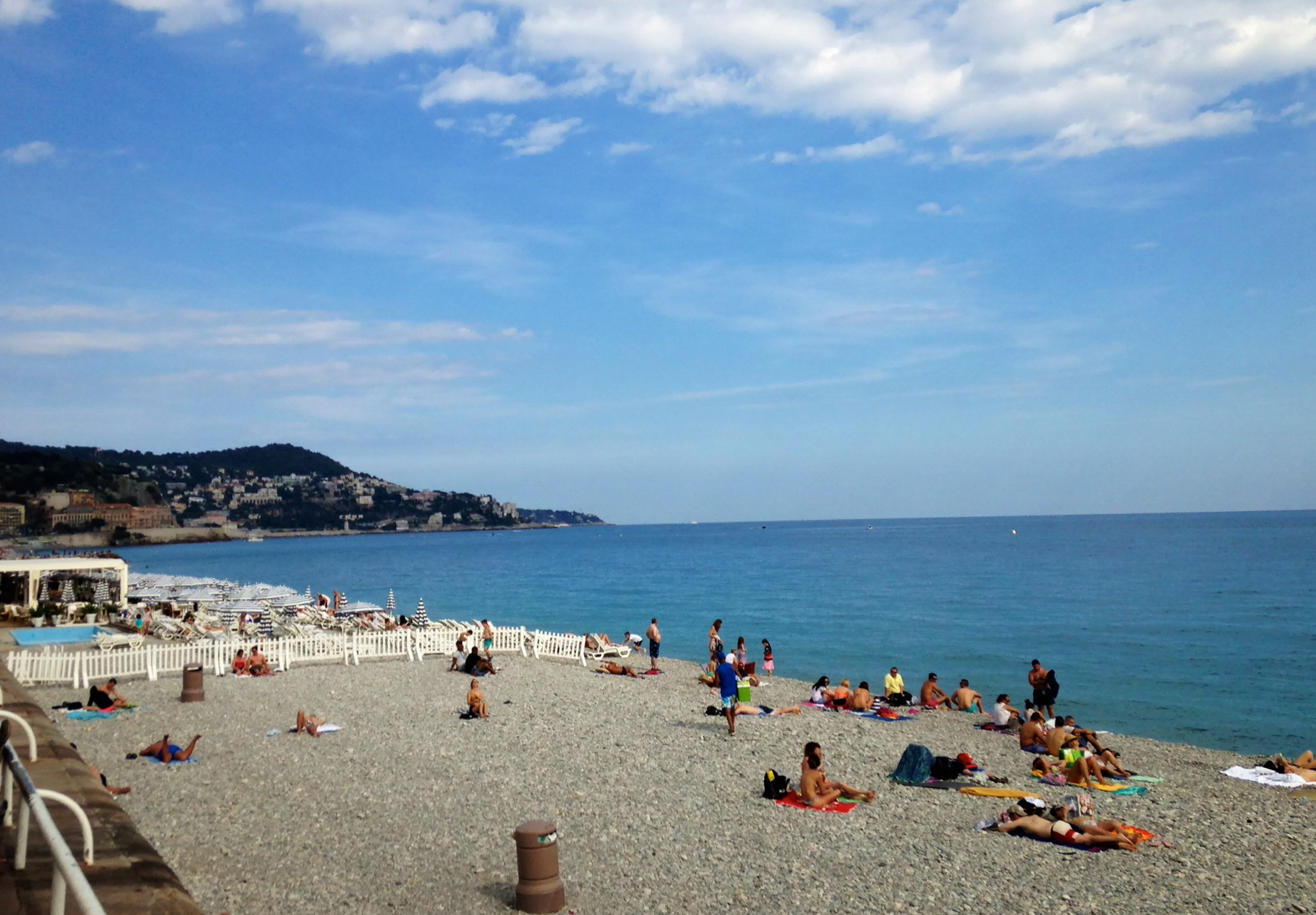 A view of the beach at Côte d'Azur