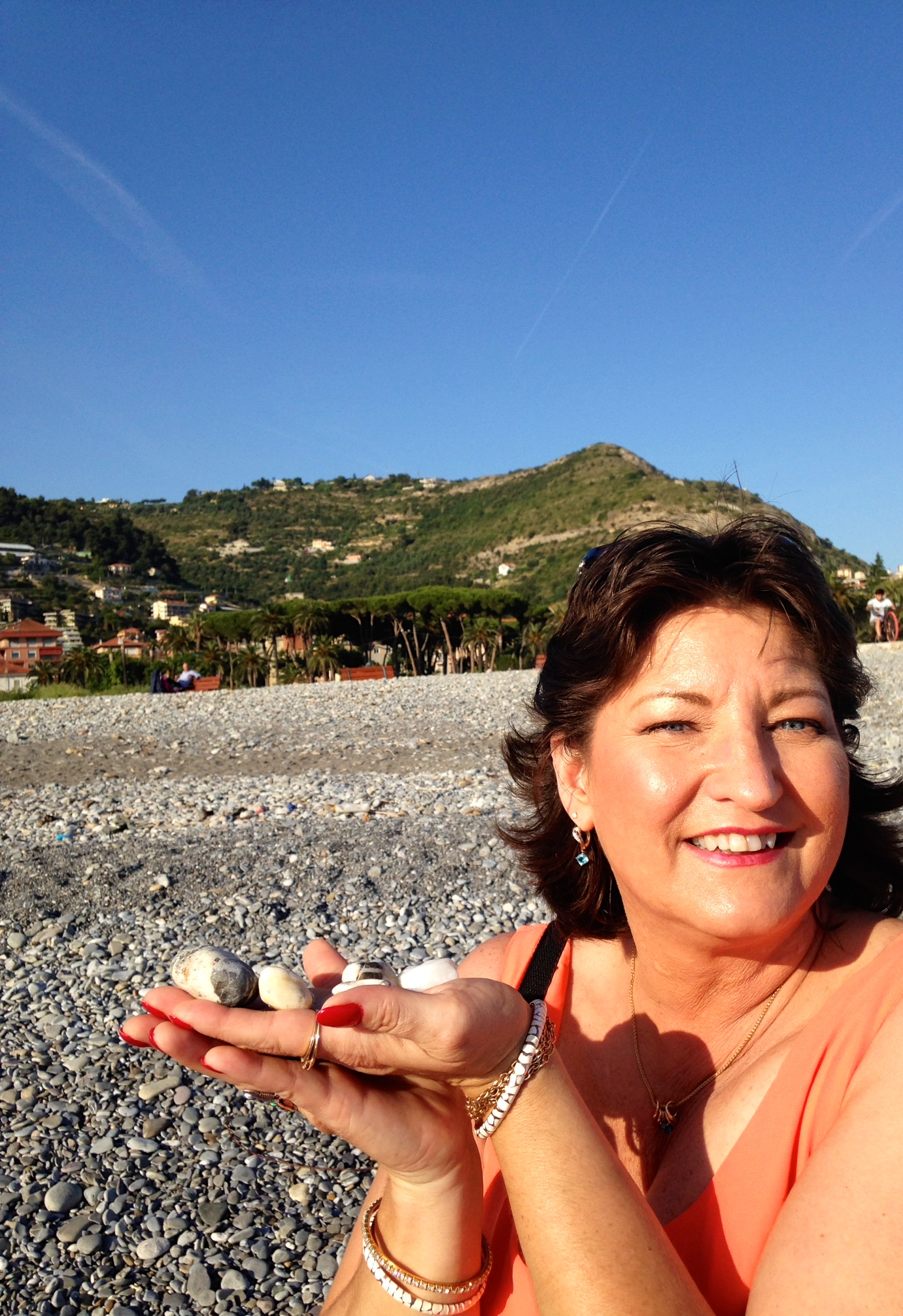Nance's rock collection in Italy