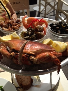 Our sea food dinner in Nice France