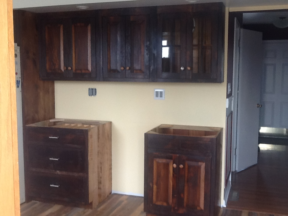 New Amish made cabinets