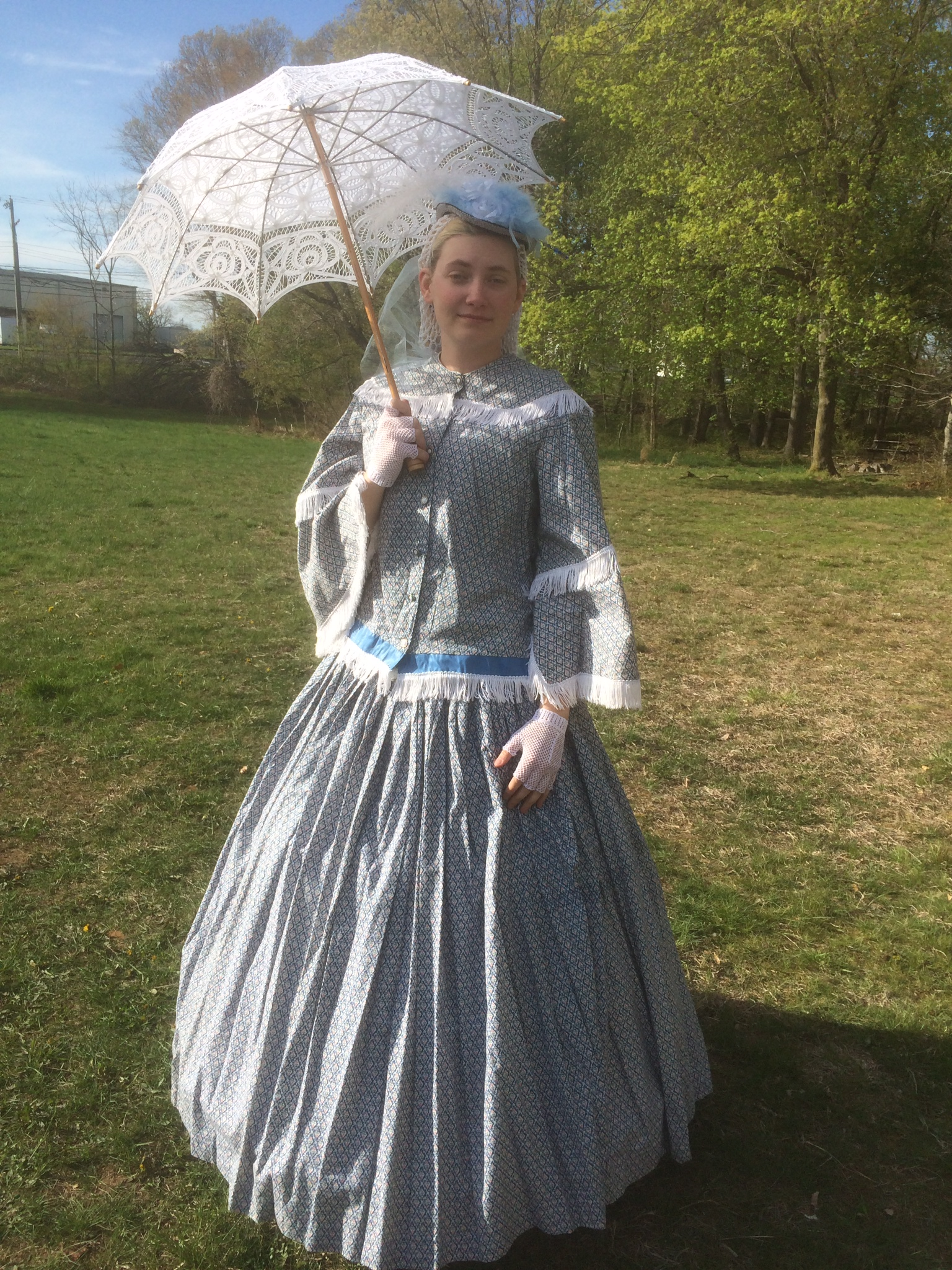 A 19th century period riding dress