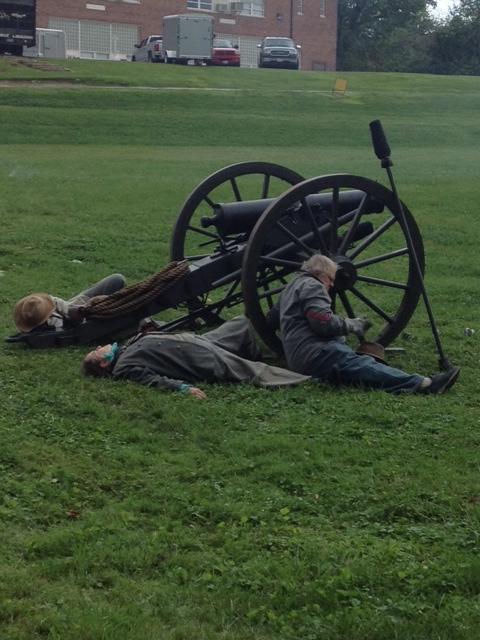 Artillery reenactors at Corbit's Charge