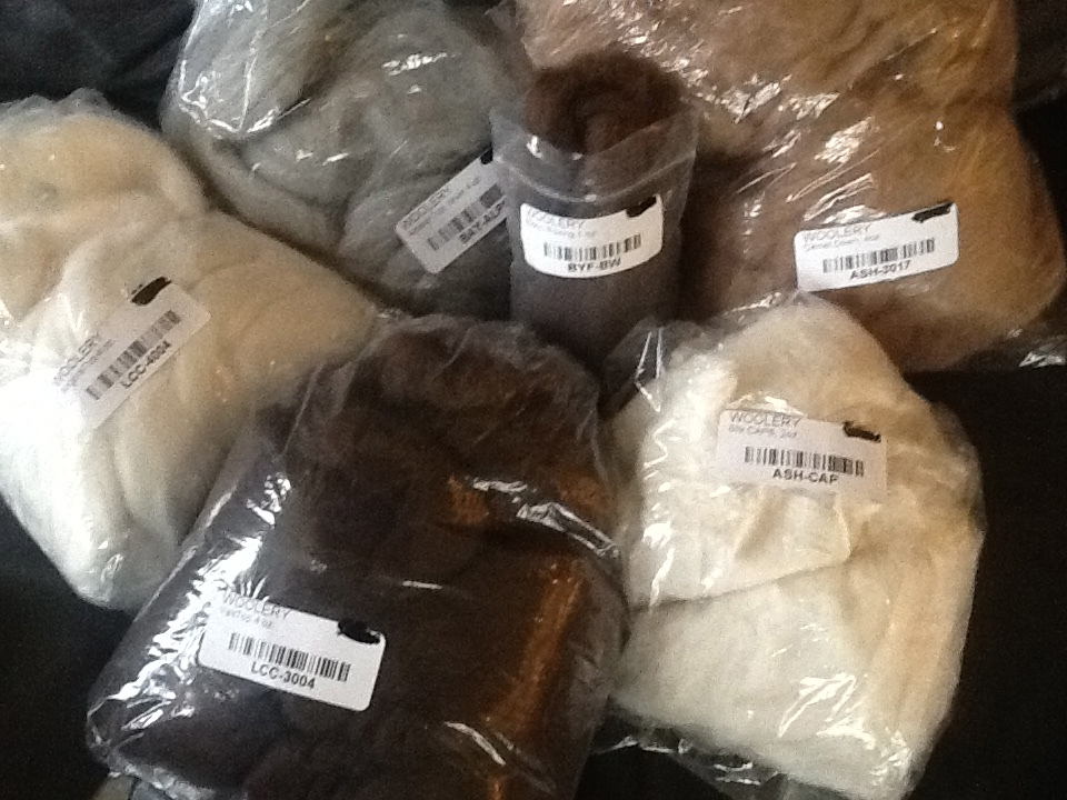 Several species of hair and wool