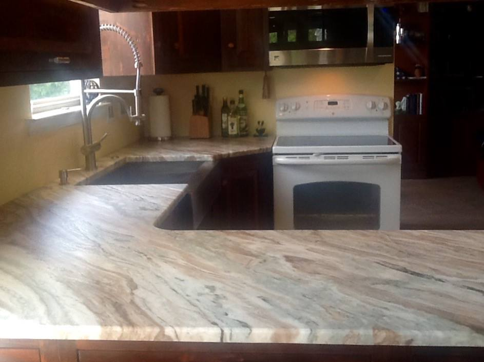 Marble counter tops are amazingly pretty