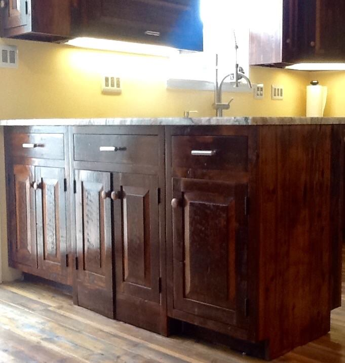 Amish builders made beautiful cabinets